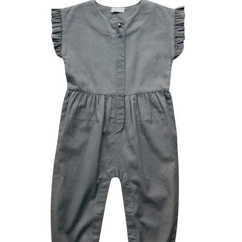 SHAINE Jumpsuit – cotton twill – smoke grey