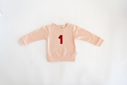 I am one - sweat shirt - Blush