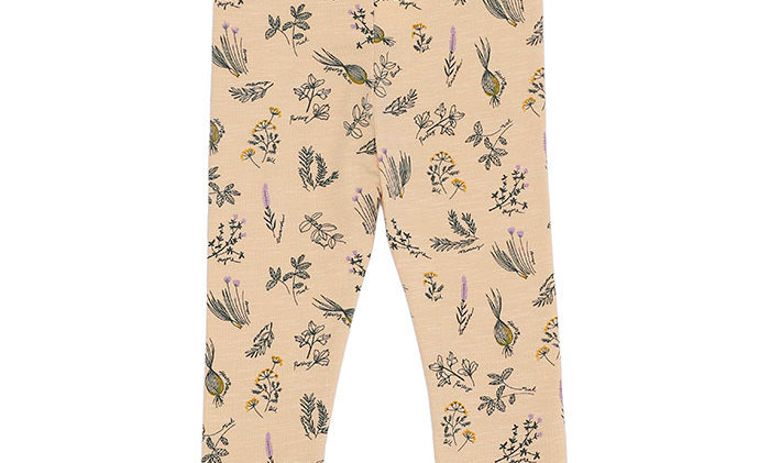 Baby Paula leggings with Herbs print