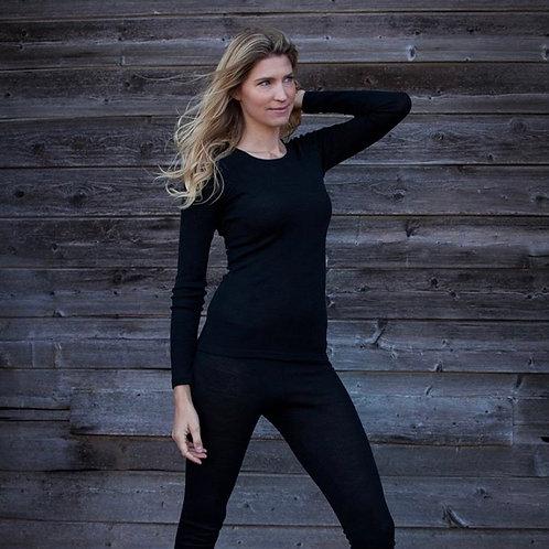 WOOLAMI WOMAN long sleeve top black