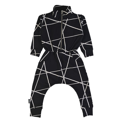 Jumpsuit, black net