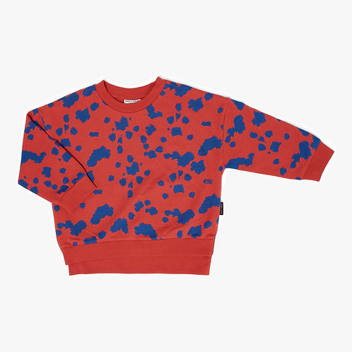 Dalmation sweater sway red