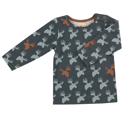 T-shirt (AOP), moose head- multicolor