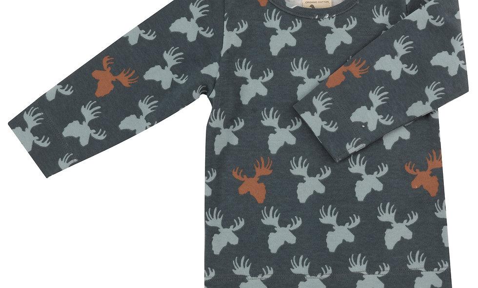 T-shirt (AOP), moose head- multicolor