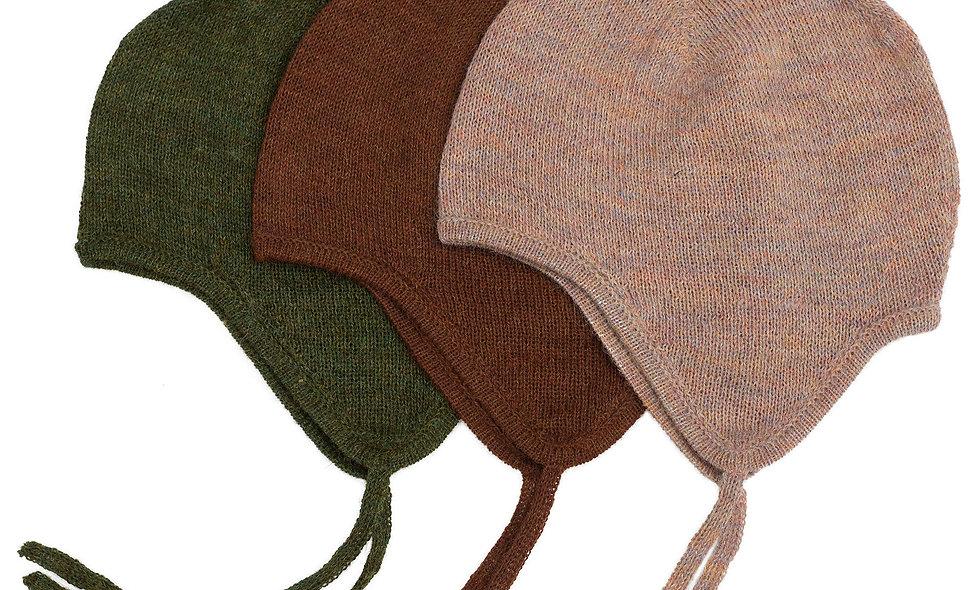 SERENDIPITY Baby Alpaca Bonnet Green