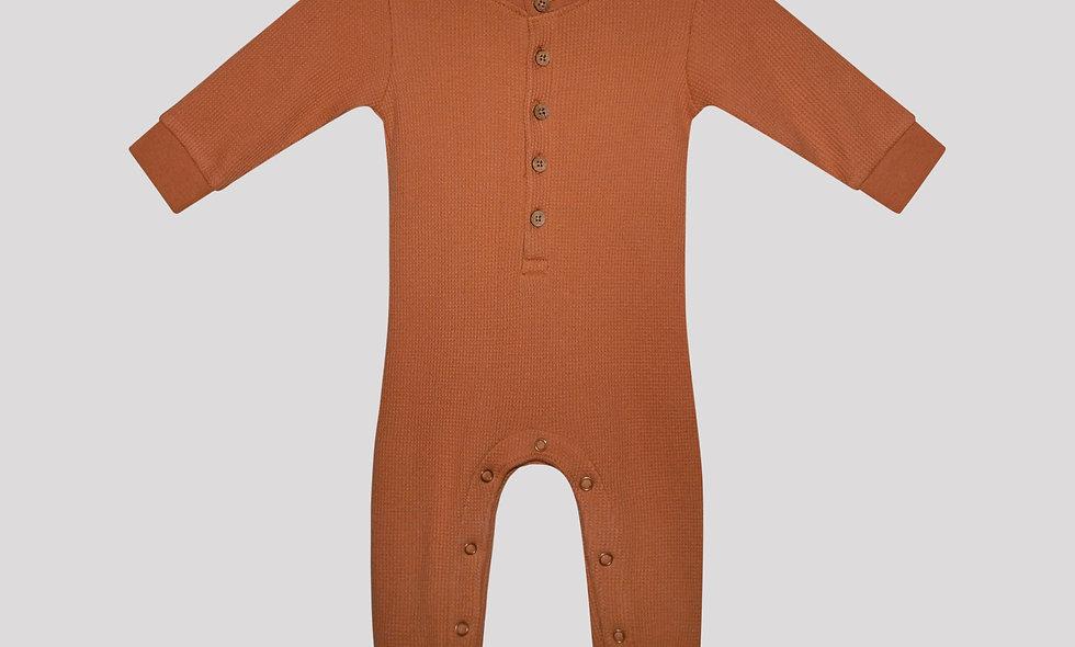 Ly overall - dark orange
