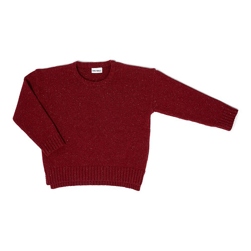 Ashton oversized freckled knit daily red