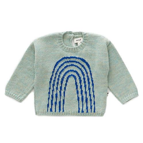 Rainbow Sweater-Ocean/Electric