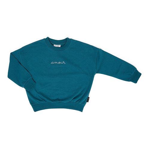 Amour sweater petrol green
