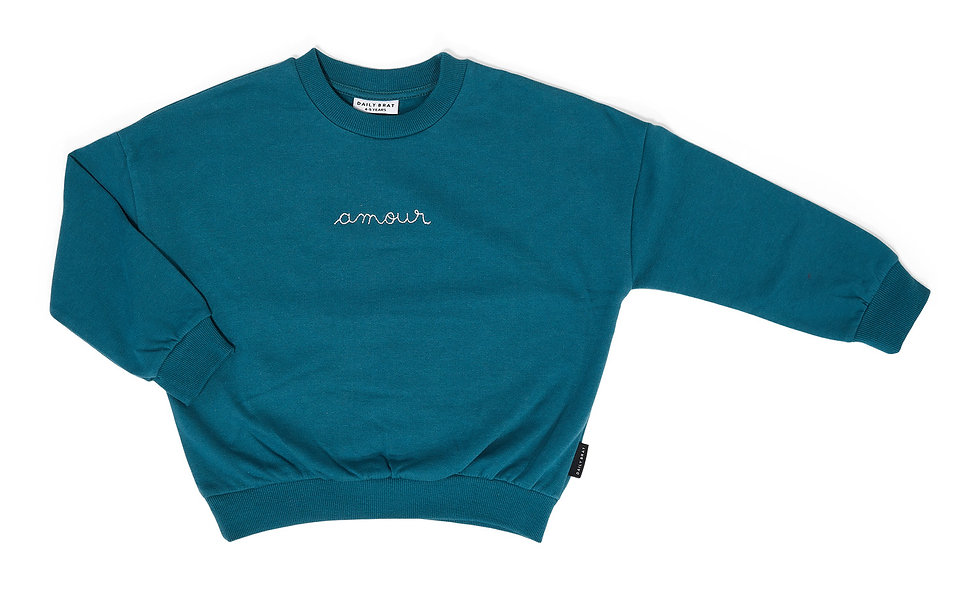 Amour sweater petrol green