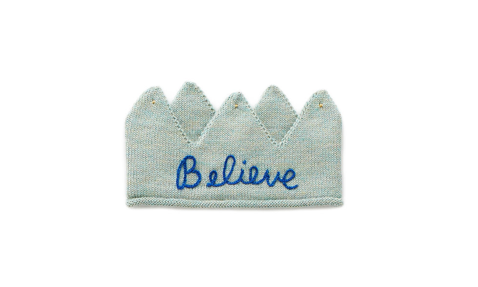 Embroidered Crown-Ocean/Electric blue
