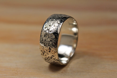7mm Hand Hammered Silver Ring