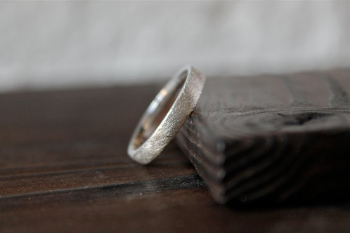 Brushed Silver Ring Slim