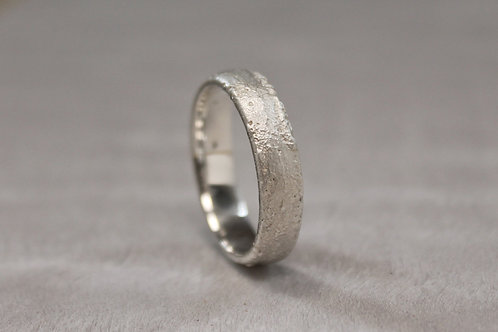 Sand Cast Silver Band 5mm