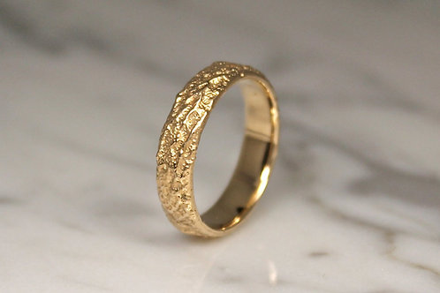 9ct Yellow Gold Mountain Ring, Unique Wedding Ring, 5