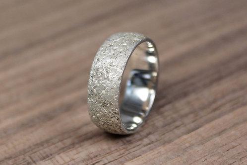 Chunky Concrete Silver Band
