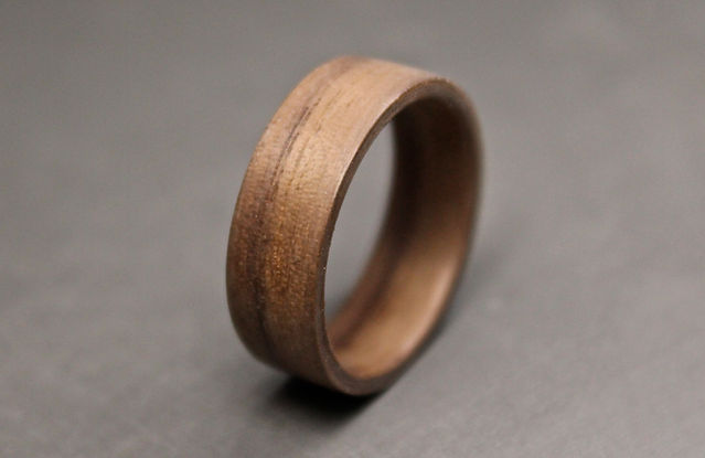 Unique wooden weedding rings