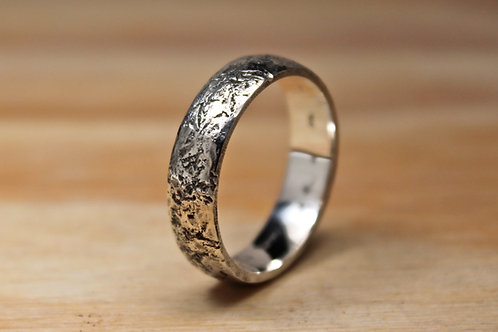 Hammered Rustic Silver Ring