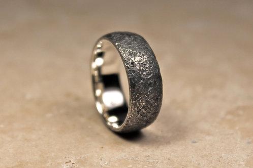 Chunky Black Silver Ring