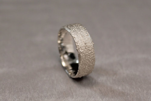 Sand Cast Silver Band 7mm