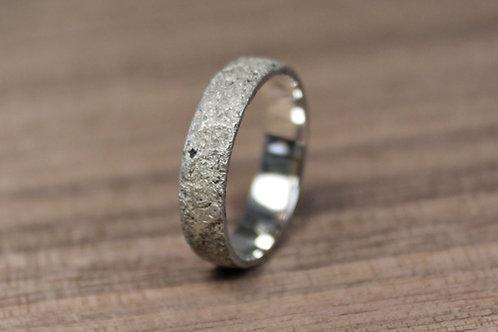 Concrete Silver Ring