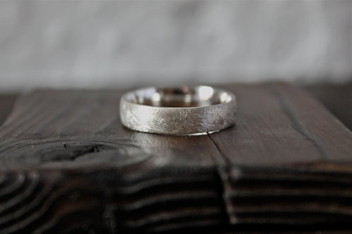 Brushed Silver Ring 6mm
