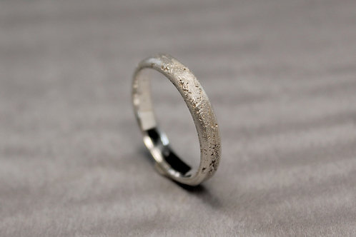Thin Silver Sand Cast Band