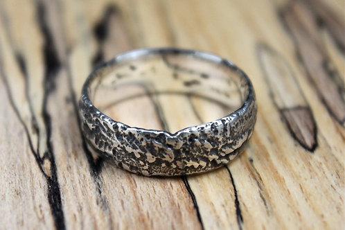 Chunky Black Mountian Silver Ring
