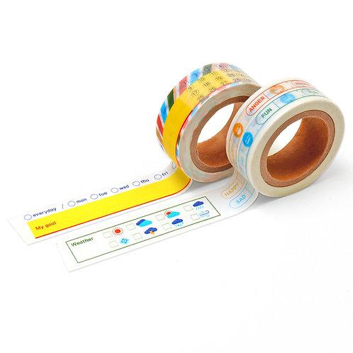 NAMCHINI Masking type 2P Set_A1(Color Line)
