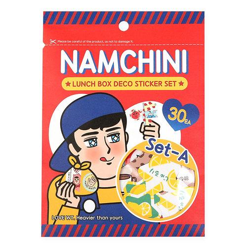 NAMCHINI Lunch box sticker set - A