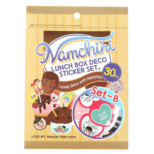NAMCHINI Lunch box sticker set -B