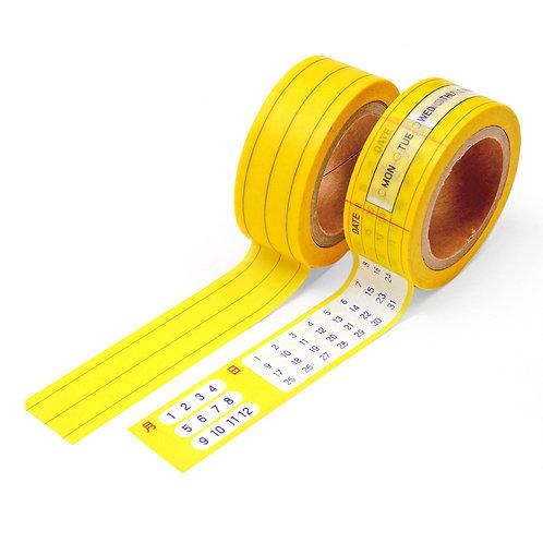 NAMCHINI Masking type 2P Set_A2(Color Line)
