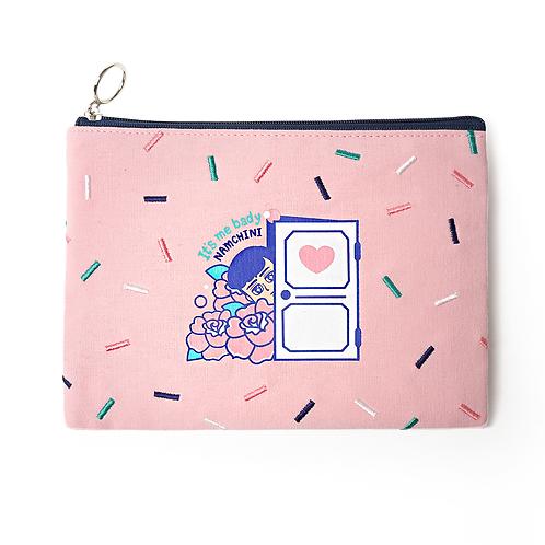 NAMCHIBI 10s Cotton pouch -  Original (Light pink)