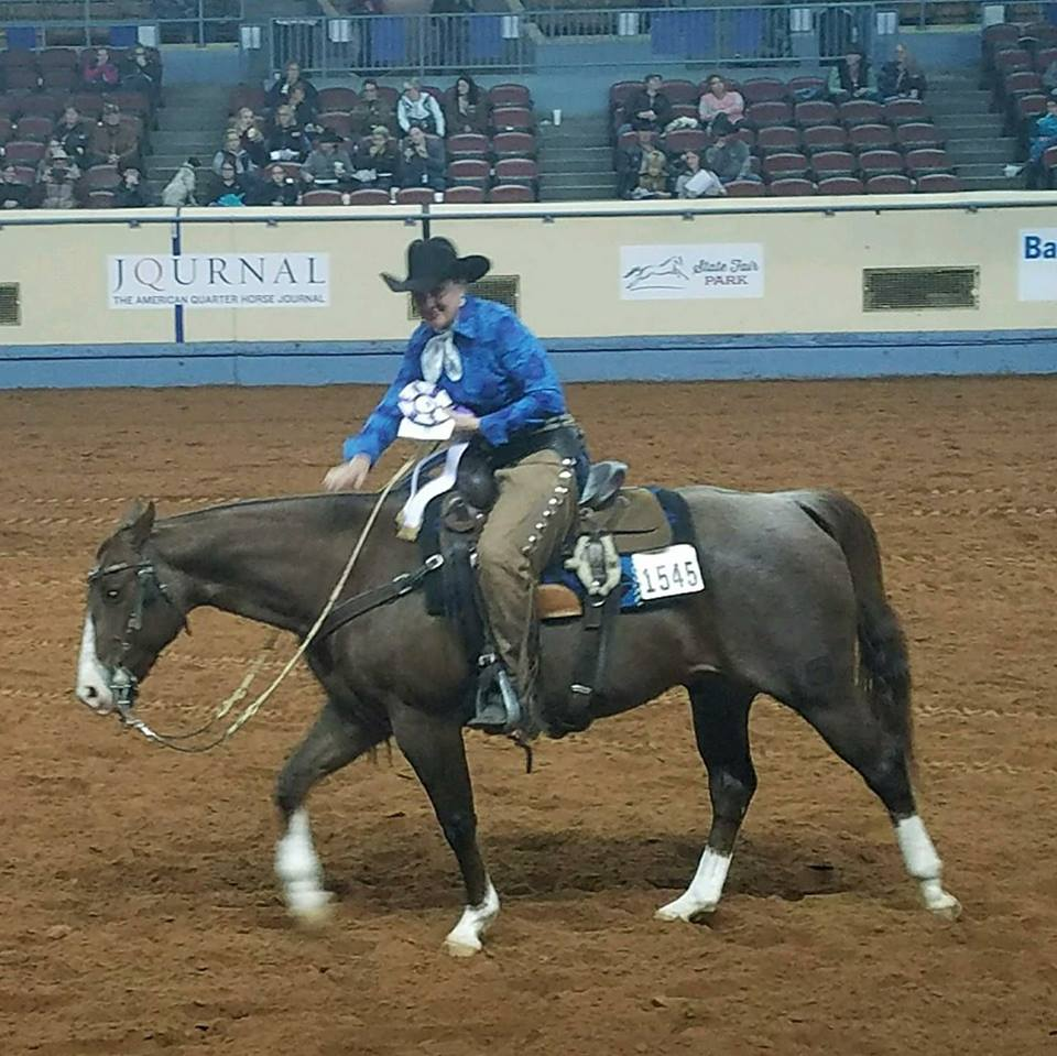 Jecca Ostrander - Burnt - 7th at world Amateur Ranch Riding