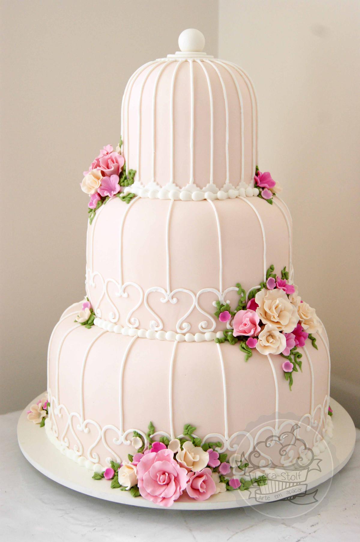 Lara Stolf Arte em Açúcar   Bolos de casamento