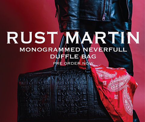 RUST MARTIN Monogrammed Never full Duffel Bag