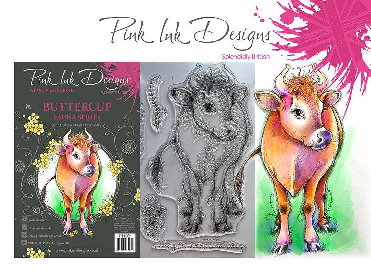 Pink Ink Designs Stamp - Buttercup -  Plus Bonus Dinky Pinky