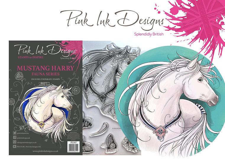 Pink Ink Designs Stamp - Mustang Harry -  Plus Bonus Dinky Pinky