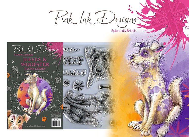 Pink Designs Stamp - Jeeves and Woofster -  Plus Bonus Dinky Pinky