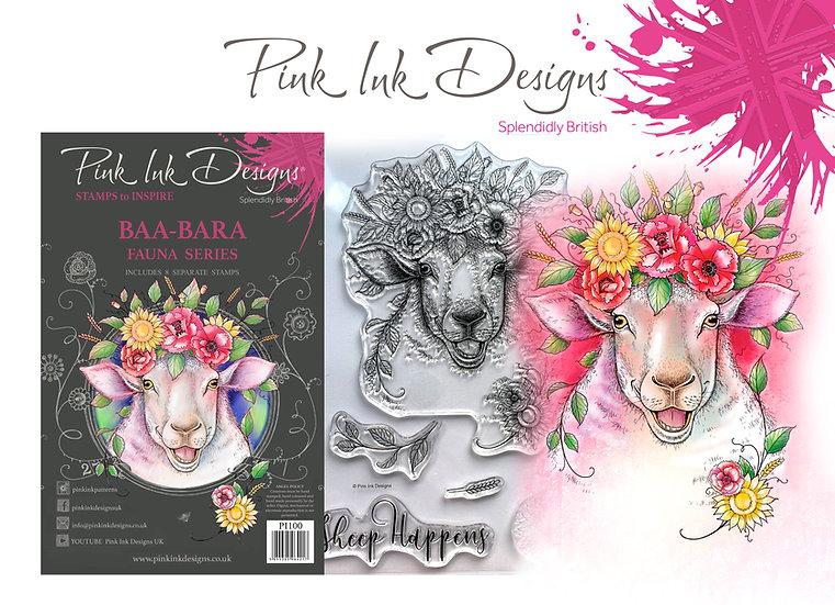 Pink Ink Designs Stamp - Baa-Bara -  Plus Bonus Dinky Pinky