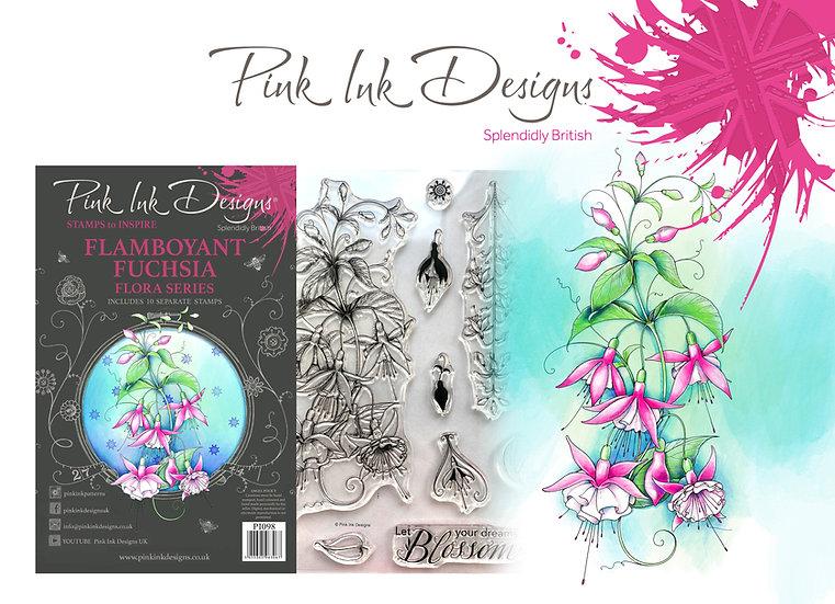 Pink Ink Designs Stamp - Flamboyant Fuchsia -  Plus Bonus Dinky Pinky
