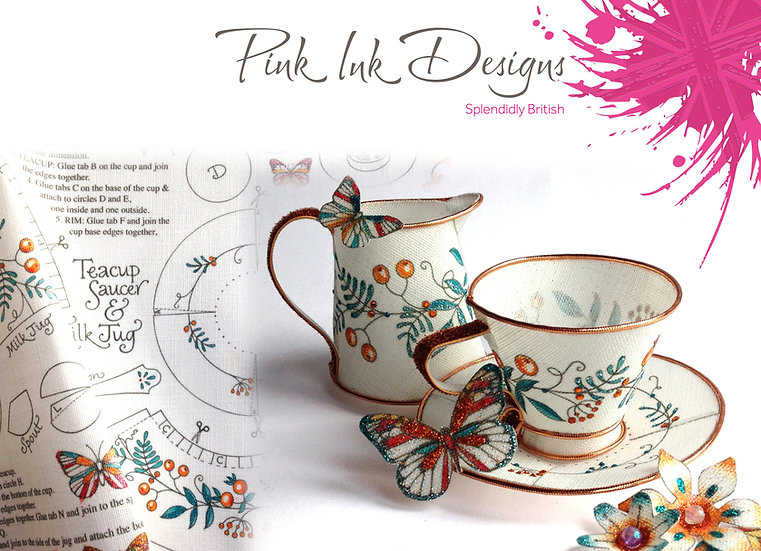 Pink Ink Designs Fabric Panels - Time for Tea