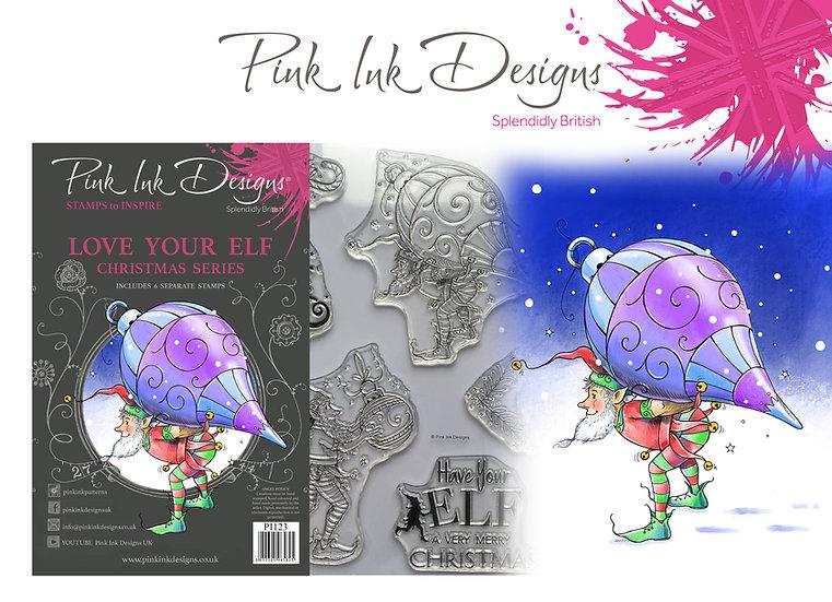 Pink Ink Designs Stamp - Love Your Elf -  Plus Bonus Dinky Pinky