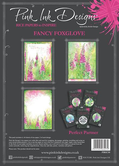 Pink Ink Designs Rice Paper - Fancy Foxglove