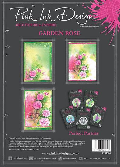 Pink Ink Designs Rice Paper - Garden Rose
