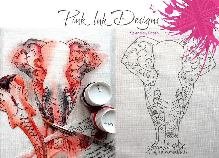 Pink Ink Designs Fabric Panels - 3D Elephant