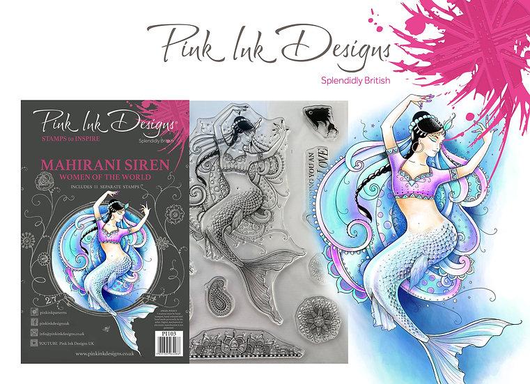 Pink Ink Designs Stamp - Mahirani Siren -  Plus Bonus Dinky Pinky