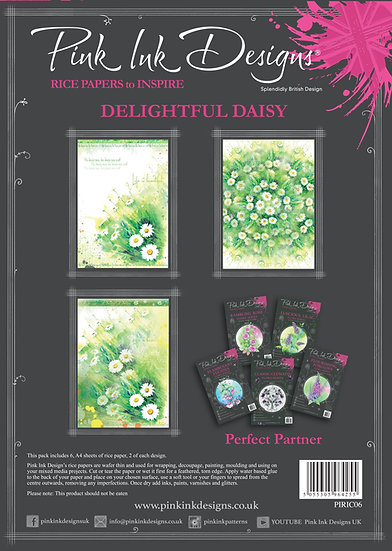 Pink Ink Designs Rice Paper - Delightful Daisy