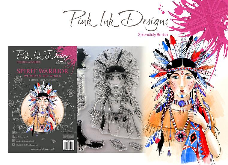 Pink Designs Stamp - Spirit Warrior -  Plus Bonus Dinky Pinky
