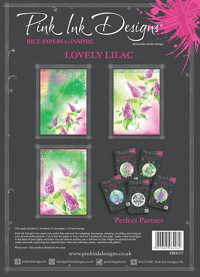 Pink Ink Designs Rice Paper - Lovely Lilac